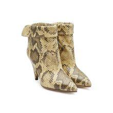 Isabel Marant Ankle Boots Lisbo aus Leder in Snake-Optik