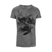 tigha Herren Shirts Trinity Crows MSN grau (vintage grey)
