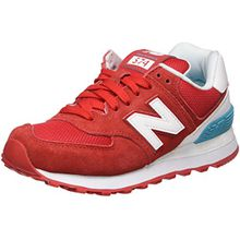 New Balance Damen 574 Suede Sneaker, Rot (Red), 37 EU