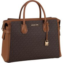 Michael Kors Handtasche Mercer Belted Large Satchel Brown