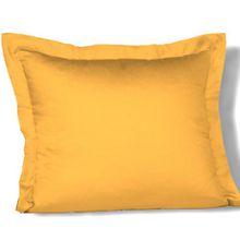 fleuresse Kissenbezug colours 9100-2349, 35x40cm, Mako Satin, Farbe Goldgelb, 100% Baumwolle, mit Reißverschluss