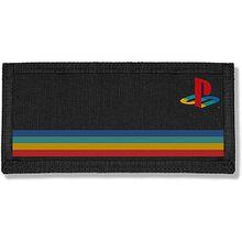 Playstation Geldbörse mit farbigem Logo, schwarz Jungen Kinder