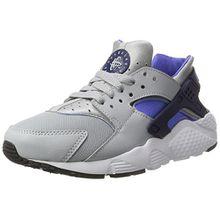 Nike Kinder und Jugendliche Huarache Run GS Sneakers, Mehrfarbig (Wolf Grey/Binary Blue-Comet Blue-White), 36.5 EU