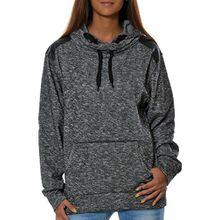 Damen Kapuzen-Pullover Sweatshirt-Jacke Hoodie (weitere Farben) No 15715, Farbe:Schwarz, Größe:L / 40
