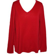 Sheego Casual Damen Pullover // rot // Lager.Nr. 804056 // 44 (44/46)
