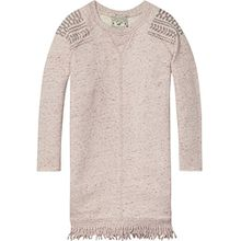 Scotch & Soda R'Belle Mädchen Kleid Fringed Hem Sweater Dress, Violett (Plum Melange 751), 116