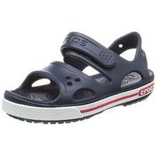 crocs Crocband II Sandal Kids, Unisex - Kinder Sandalen, Blau (Navy/White), 25/26 EU