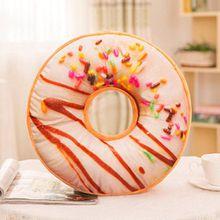 Donut Kissen Fall, wanshop® Soft Plüsch Kissen gefüllt Sitz Pad Sweet Donut Foods Sofa Kissenbezug Fall Toys 40cm x 40cm x 12cm Q