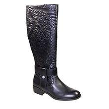 Desigual Damenschuhe EU 41 Winter-Stiefel Leder Schwarz Schuhe des15