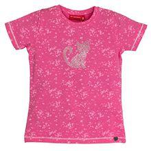 SALT AND PEPPER Mädchen T-Shirt Forever Allover, Rosa (Candy 802), 104 (Herstellergröße: 104/110)