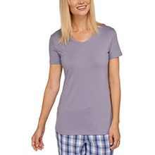 Schiesser Damen Schlafanzugoberteil Mix & Relax Shirt 1/2 Arm, Gr. 48, Grau (hellgrau 204)