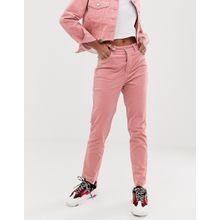 Signature 8 - Mom-Jeans aus Cord - Rosa