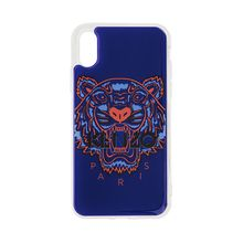 Iphone X/Xs Case 3D Tiger Head Blue
