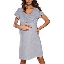 Italian Fashion IF Damen Stillnachthemd Dagna 0114 (Melange, L)