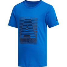 ADIDAS PERFORMANCE T-Shirt 'LB Cotton' blau / schwarz