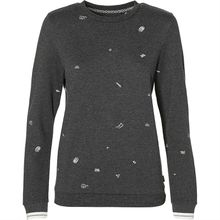 O'NEILL Sweatshirt LW MINI PRINT SWEATSHIRT Sweatshirts dunkelgrau Damen
