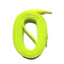SNORS shoefriends Schnürsenkel flach 60-240cm, 7mm aus Polyester Schnürsenkel neongelb