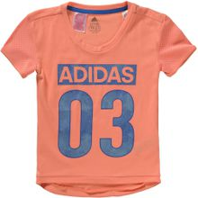 ADIDAS PERFORMANCE T-Shirt blau / orange