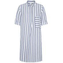 ETERNA Blusenkleid blau / weiß