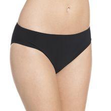 Rosa Faia Damen Slip Bikinihose Casual Bottom, Einfarbig, Gr. 42, Schwarz