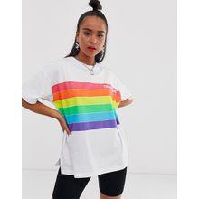 Converse - Pride - T-Shirt in Weiß mit Regenbogendesign - Weiß