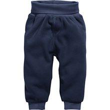 Schnizler Unisex Baby Jogginghose Pump-Hose, Fleecehose mit Strickbund, Blau (Marine 11), 68