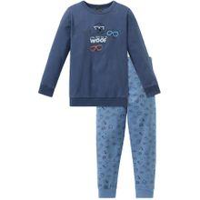 SCHIESSER Schlafanzug taubenblau / himmelblau