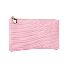 SIX Kosmetik Tasche rosa Make-up Bag mit goldenem Herz (129-650)