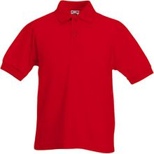 Fruit of the Loom - Kinder Poloshirt 'Piqué Polo 65/35' 104,Red