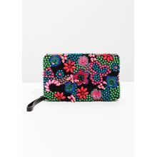 Beaded Embellished Clutch - Green