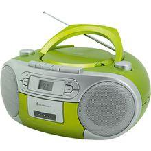 CD Player mit Radio und Kassettenspieler, grün hellgrün