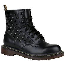 Stiefelparadies Coole Worker Boots Kinder Outdoor Stiefeletten Profil Sohle Schuhe 148808 Schwarz Nieten 37 Flandell