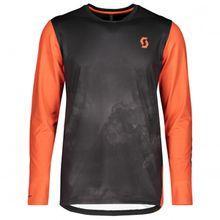 Scott - Shirt Trail Storm L/SL - Radtrikot Gr L;M;S;XL;XXL schwarz/orange;schwarz/grau