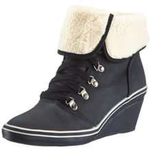 ESPRIT Lexa Lu Wedge 083EK1W012, Damen Sneaker, Schwarz (black 001), EU 41