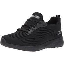 Skechers Damen Bobs Squad-Photo Frame Slip on Sneaker, Schwarz (Black), 36 EU