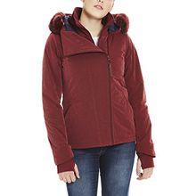 Bench Damen Jacke Core Asymmetrical Jacket, Rot (Cabernet Rd11343), Large