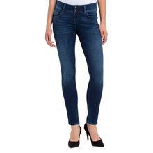 Cross Melinda - Enge Jeans mit High Waist in Dunkelblau