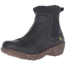 El Naturalista Damen NE23 Soft Grain Black/Yggdrasil Chelsea Boots, Schwarz (Black N01), 37 EU