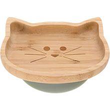 Kinderteller Snacks Bambus/ Holz, Little Chums Cat, beige  Kinder