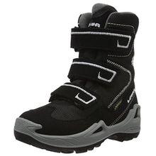 Lowa Unisex-Kinder Milo GTX Hi Trekking-& Wanderstiefel, Schwarz (Schwarz/Hellgrau), 32 EU