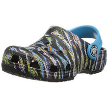 crocs Classic Graphic Clog Kids, Unisex - Kinder Clogs, Schwarz (Black), 29/30 EU