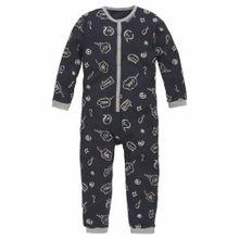 SCHIESSER Jumpsuit Overall nachtblau / grau