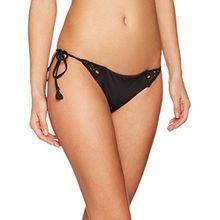 Seafolly Damen Bikinihose Flower Festival Brazilian Tie Side, Schwarz (Black), 40 (Herstellergröße:14)