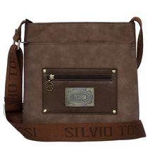 Silvio Tossi Lederschultertasche mit hochtechnologischer Spezialschutzschicht Handtaschen braun Damen
