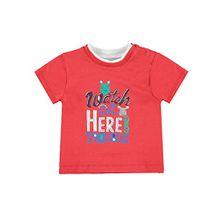 Kanz Jungen, T-Shirt, T-Shirt 1/4 Arm, Rot (True Red 2993), 62