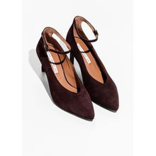 Ankle Strap Pumps - Brown