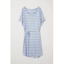 H & M - T-Shirt-Kleid mit Bindegürtel - Brown - Damen