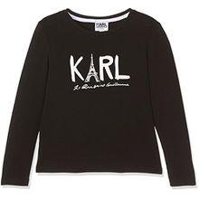 Karl Lagerfeld Mädchen T-Shirt, Noir (Black), 10 Jahre