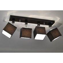 Designer Decken Leuchte Lampe Retro Spot Strahler E27 Power New York 11 (Sockelfarbe: Wenge)