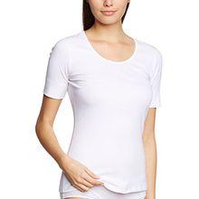 Schiesser Damen Unterhemd Fräuleinwunder Shirt 1/2 Arm, Gr. 44, Weiß (weiss 100)